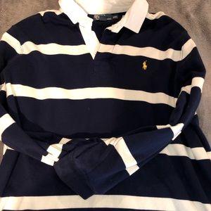 Men's polo long sleeve sweatshirt